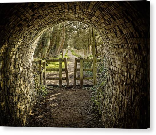 Canvas Print featuring the photograph View From The Tunnel by Nick Bywater