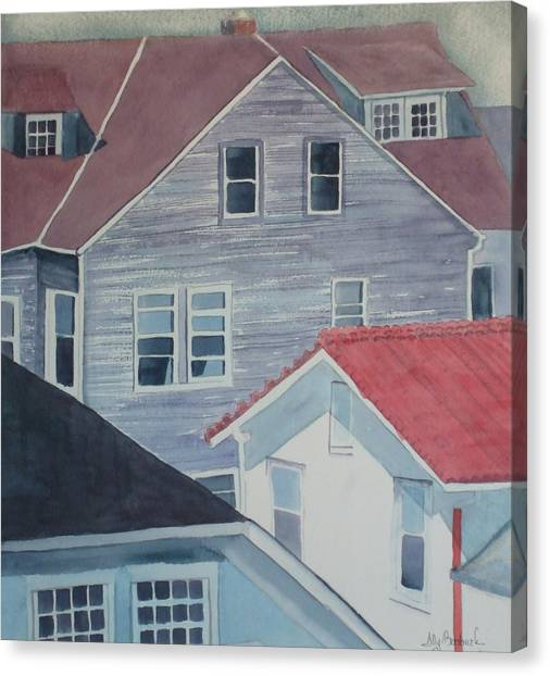 View From Theback Window Canvas Print by Ally Benbrook
