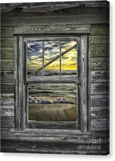 View From Weathered Beach Cottage Canvas Print