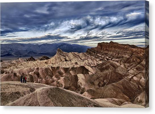 View From Zabriskie Point  Canvas Print