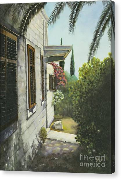 View In A Croatian Garden Canvas Print