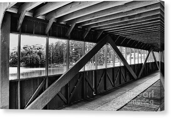 View Inside Covered Bride Black And White Canvas Print by Jeanne OConnor