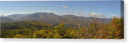 View Of Cascade From Crow Mt. Canvas Print