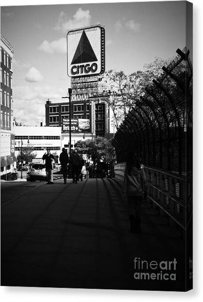 View Of Citgo Sign From David Ortiz Bridge, Boston, Massachusetts Canvas Print