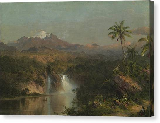 Andes Mountains Canvas Print - View Of Cotopaxi by Frederic Edwin Church