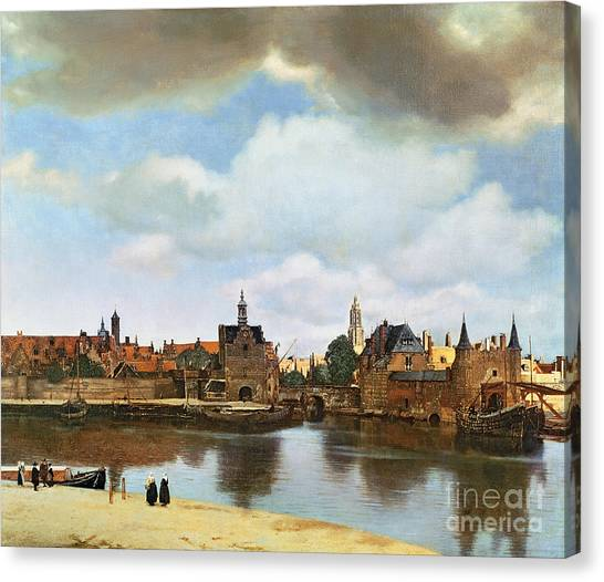 Canal Canvas Print - View Of Delft by Jan Vermeer