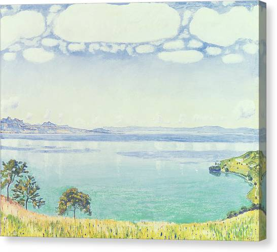 Lake Geneva Canvas Print - View Of Lake Leman From Chexbres by Ferdinand Hodler