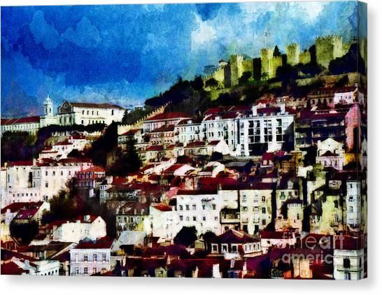 View Of Lisbon Canvas Print