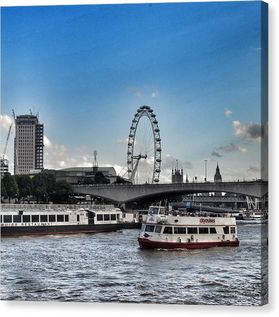 London Eye Canvas Print - View Of London Eye  by Joshua Miranda