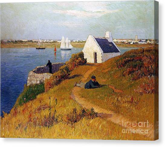 Harbour Canvas Print - View Of Lorient In Brittany by Henry Moret