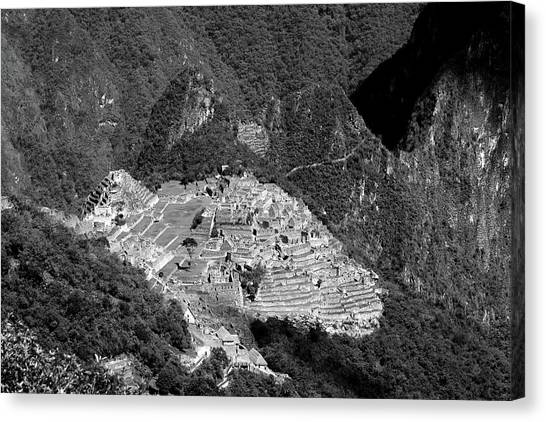 View Of Machu Picchu From The Inca Trail Canvas Print