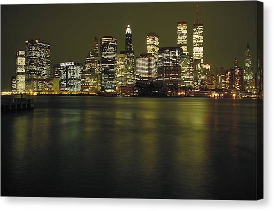 City Landscape Canvas Print - View Of Manhattan From Bay by Gillham Studios