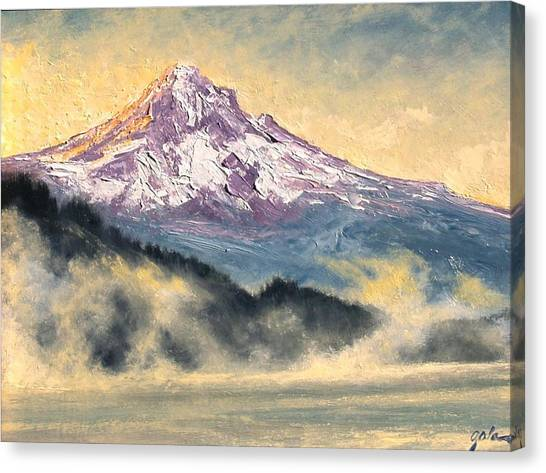 View Of Mt Hood Canvas Print by Jim Gola