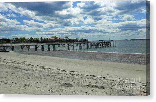 View Of Pier. Fisherman's Beach, Swampscott, Ma Canvas Print