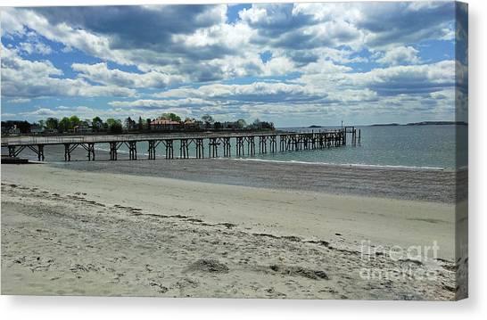 View Of Pier. Fisherman's Beach, Swampscott, Ma Canvas Print