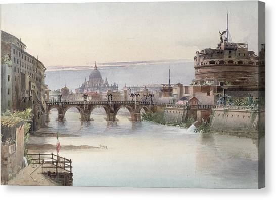 City Landscape Canvas Print - View Of Rome by I Martin