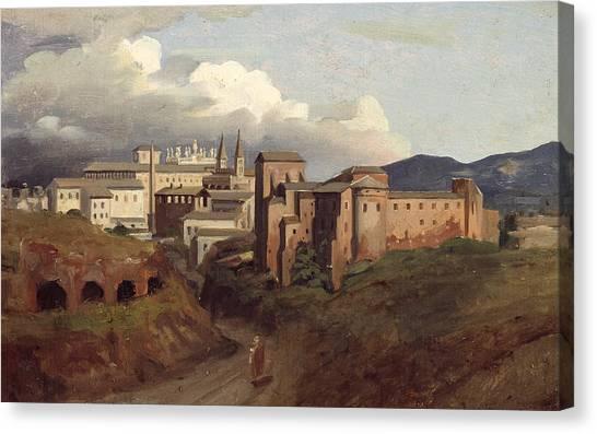 Byzantine Canvas Print - View Of Saint John Lateran Rome by Joseph Desire Court