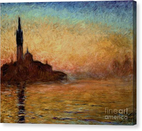 Painters Canvas Print - View Of San Giorgio Maggiore by Claude Monet