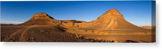 Sahara Desert Canvas Print - View Of Sand Dunes, Sahara Desert by Panoramic Images