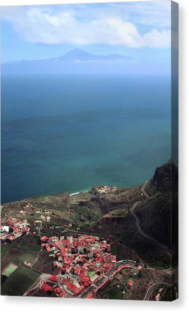Canaries Canvas Print - View Of Teide From La Gomera by Cambion Art