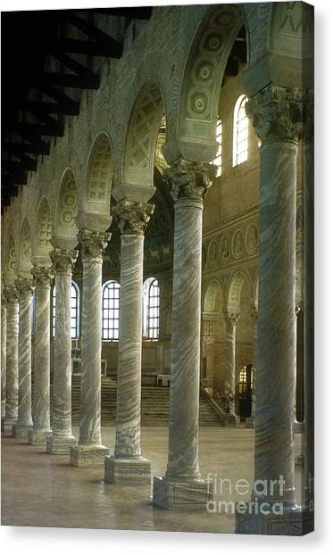 House Of Worship Canvas Print - View Of The Basilica, Saint Apollinaire In Classe, Ravenna, Italy by Italian School