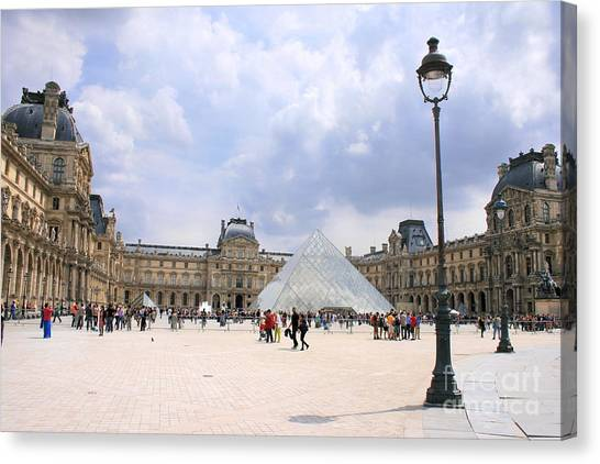 Le Louvre Canvas Print - View Of The Louvre by Angela Rath
