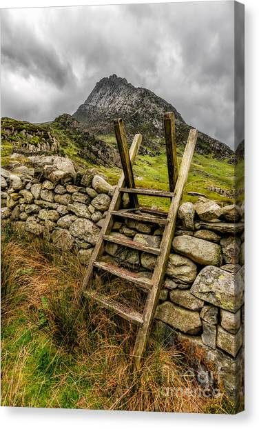 Tryfan Mountain Canvas Print - View Of Tryfan  by Adrian Evans
