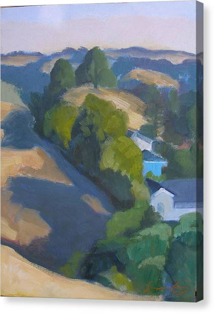 View Of Walnut Creek Hills From Trailhead Canvas Print