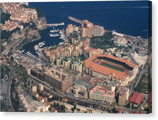 View On Monte Carlo On French Riviera Canvas Print by Carl Purcell
