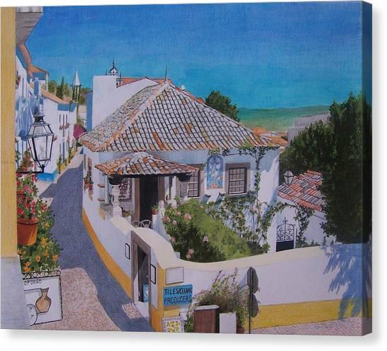 View On Obidos Canvas Print