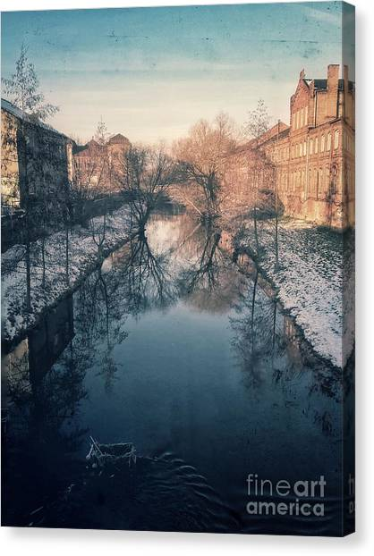 View Onto The River  Canvas Print