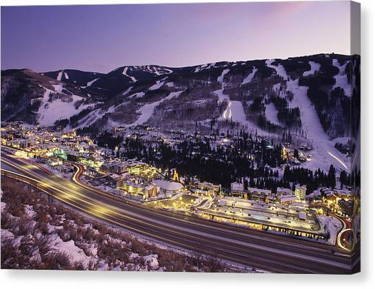 Interstates Canvas Print - View Over I-70, Vail, Colorado by Michael S. Lewis