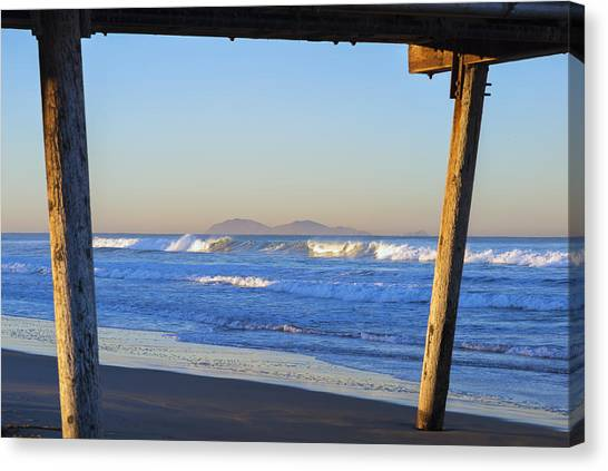 View Through The Pier Canvas Print