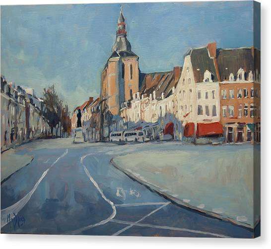 Canvas Print - View To Boschstraat Maastricht by Nop Briex
