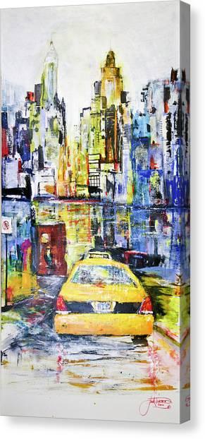 View To Manhattan Canvas Print
