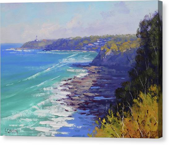 Beautiful Nature Canvas Print - View To Norah Head Australia by Graham Gercken