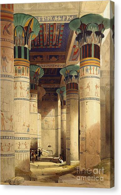 Archaeologists Canvas Print - View Under The Grand Portico by David Roberts