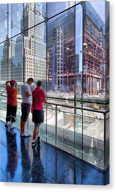 Viewing Ground Zero 2 Canvas Print by Robert Ullmann