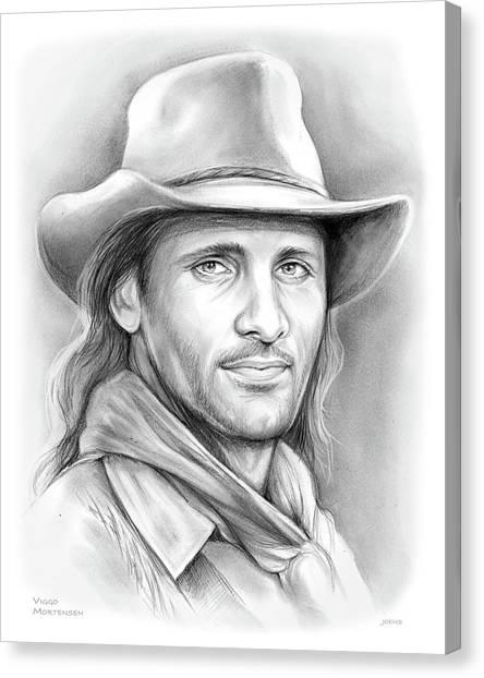 Cowboy Canvas Print - Viggo Mortensen  by Greg Joens