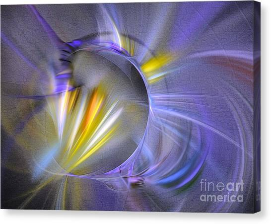Canvas Print featuring the digital art Vigor - Abstract Art by Sipo Liimatainen