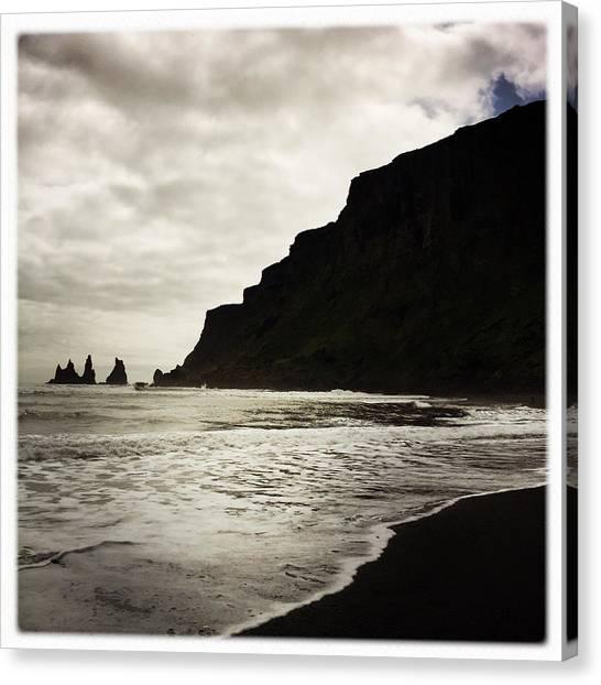 Minimalism Canvas Print - Vik Beach Reynisdrangar Iceland by Matthias Hauser