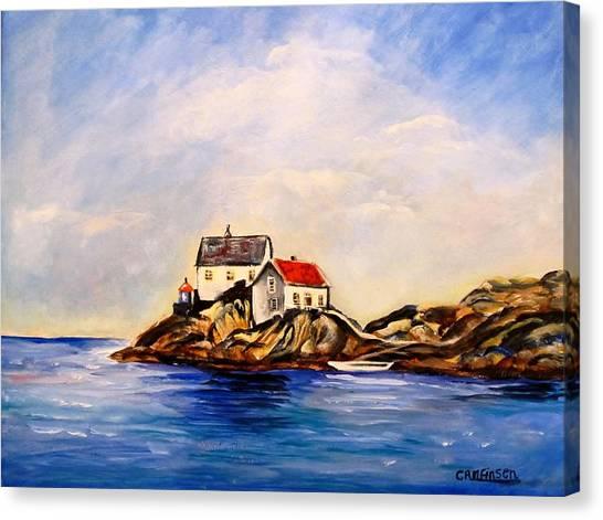 Vikeholmen Lighthouse Canvas Print