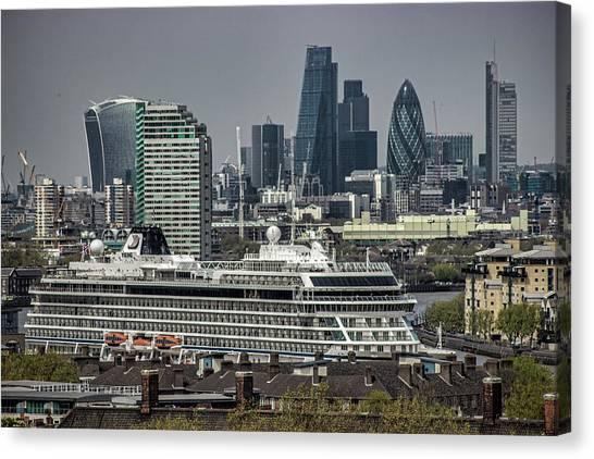 Capital Ship Canvas Print - Viking Sea Cruise Ship by Martin Newman