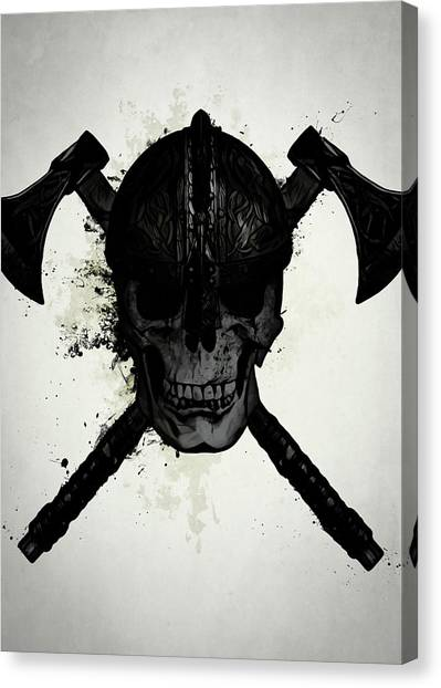 Skulls Canvas Print - Viking Skull by Nicklas Gustafsson