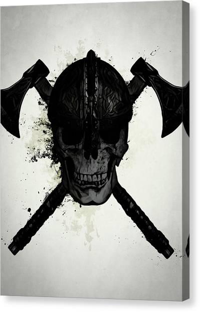 Ancient Art Canvas Print - Viking Skull by Nicklas Gustafsson