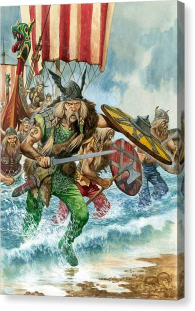 Axes Canvas Print - Vikings by Pete Jackson