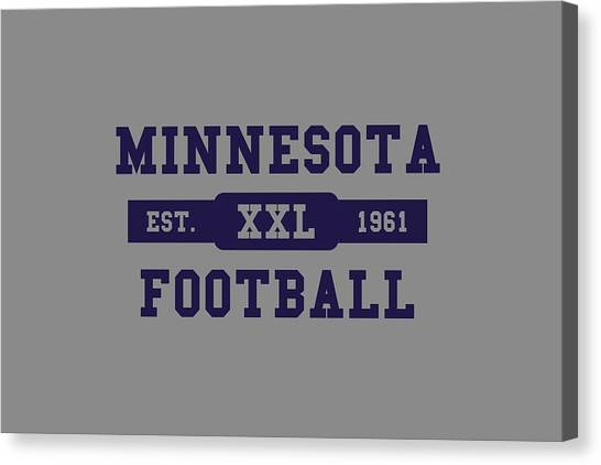 Minnesota Vikings Canvas Print - Vikings Retro Shirt by Joe Hamilton