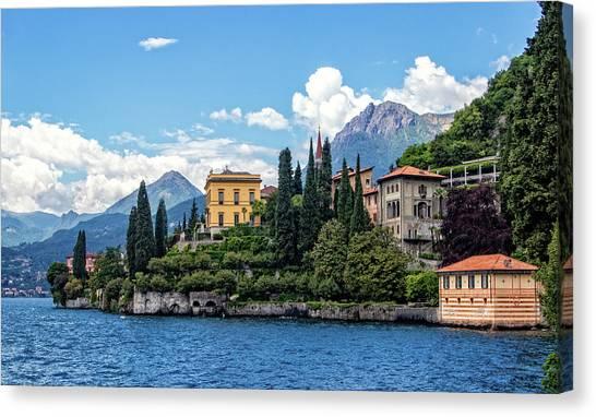 Villa Cipressi On Lake Como Canvas Print