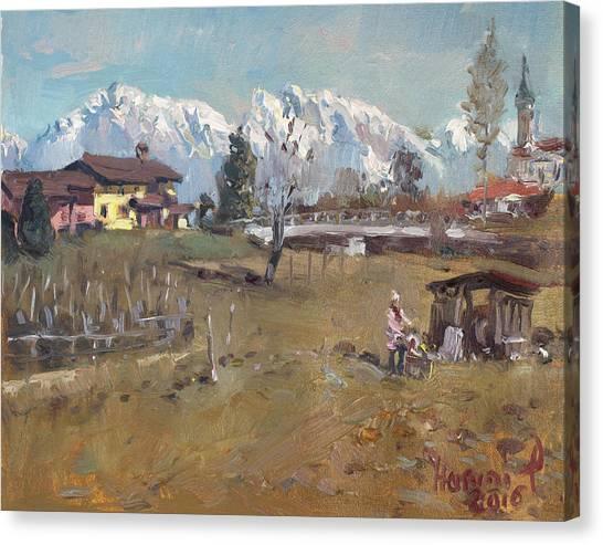 Dolomites Canvas Print - Villa Di Limana by Ylli Haruni