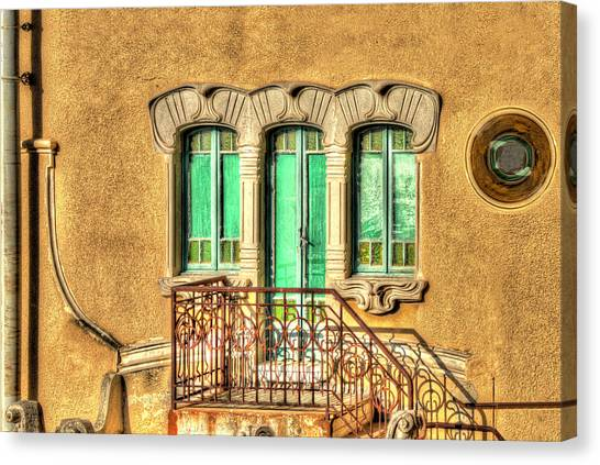 Canvas Print featuring the photograph Villa Liberty 3 by Enrico Pelos